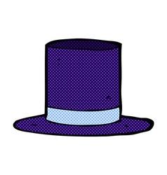 Comic cartoon top hat vector