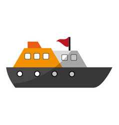 Cruise ship with flag icon image vector