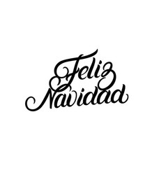 feliz navidad hand lettering for greeting card vector image