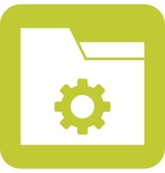 Folder Settings vector image vector image