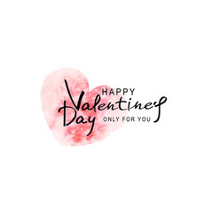 for valentines day heart painted vector image