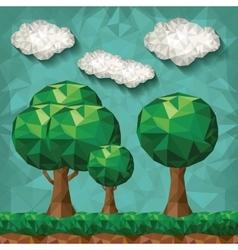 forest landscape design vector image vector image