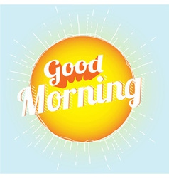 Good morning vector