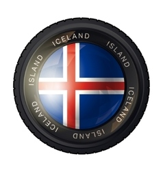 Iceland flag icon vector