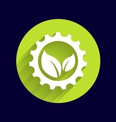 Leaves gear icon button logo symbol concept vector