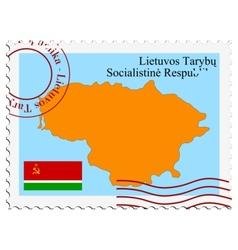 Lithuanian Soviet Republic vector image