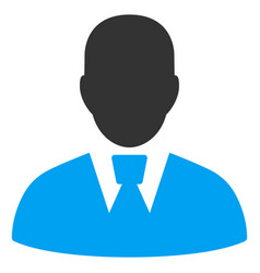 Manager flat icon vector