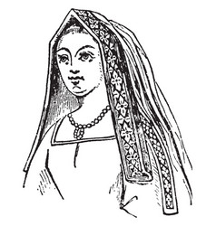 Queen of henry vii is a angular head-dress vector
