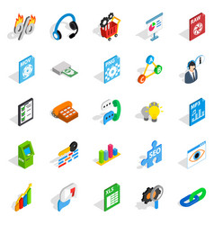 Right icons set isometric style vector