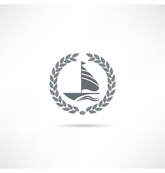 sailfish icon vector image vector image