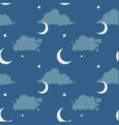 seamless pattern with night sky vector image vector image