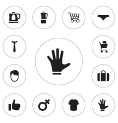 set of 12 editable business icons includes vector image vector image