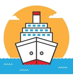 Ship sea cruise liner vector image