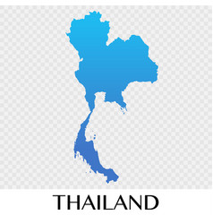 thailand map in asia continent design vector image