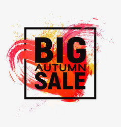 the autumn sale banner on the background vector image