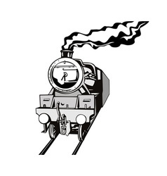 Vintage Train Retro vector image vector image