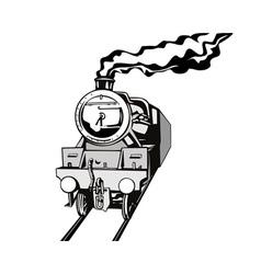 Vintage train retro vector