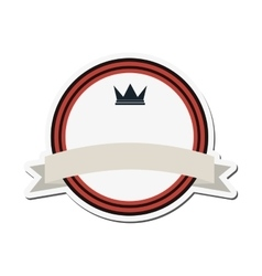 Crown masculine emblem icon vector