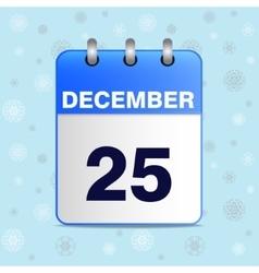 Christmas calendar icon vector image