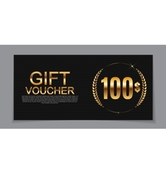 Gift voucher template for discount coupon vector
