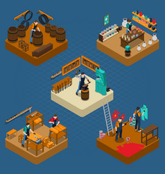 Craftsman isometric vector