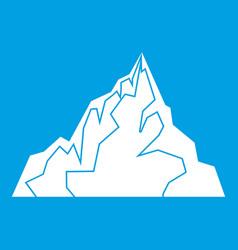 Iceberg icon white vector