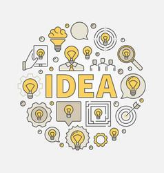Idea round colorful vector