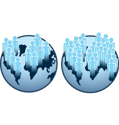 globe people vector image
