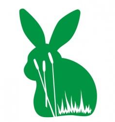 rabbit in the wild vector image