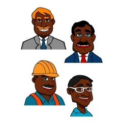 Cartoon builder doctor and businessmen vector