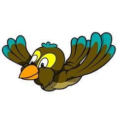 Flying sparrow vector