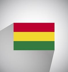 Flat Flag of Angola Bolivia vector image
