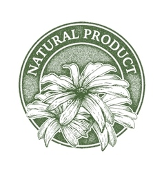 Natural product digital design vector