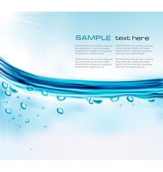 background with water and sun vector image
