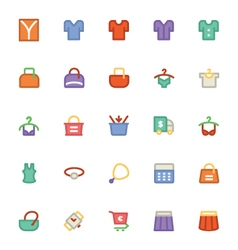 Clothes icons 14 vector