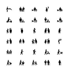 Family and Human Icons 3 vector image
