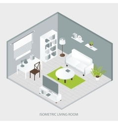 Isometric home interior vector