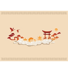 Abstract of chinese background vector