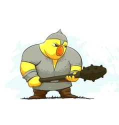 Angry chicken warrior vector