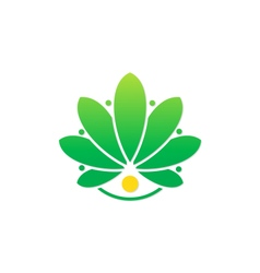 beauty flower salon spa logo vector image