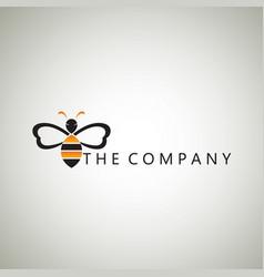 bee logo ideas design vector image vector image