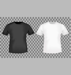 Black and white t-shirt template vector