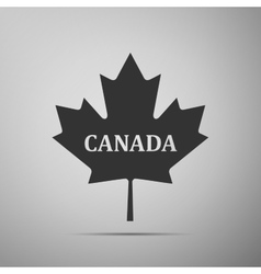 Canadian maple leaf with city name Canada flat vector image