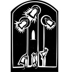 Church bells vector