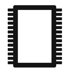 Computer electronic circuit board icon simple vector