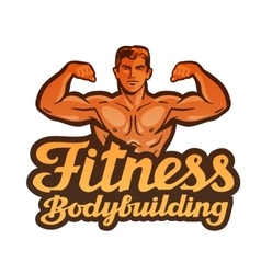 Fitness logo gym sport or bodybuilding vector