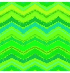 Hand drawn zigzag pattern in grass green vector image