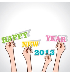 happy new year 2013 in hand vector image