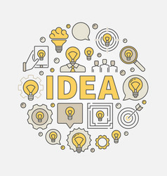 idea round colorful vector image