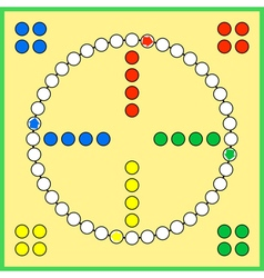 Ludo board game vector image